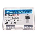 BOJACK IRF530 MOSFET Transistor IRF530N 17 A 100 V MOSFET di potenza a canale N TO-220AB (confezione da 10 pezzi)