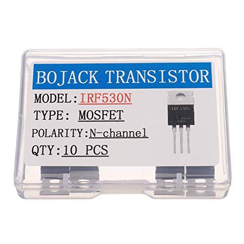 BOJACK IRF530 MOSFET Transistoren IRF530N 17 A 100 V N-Kanal Leistungs MOSFET TO-220AB (Packung mit 10 Stück)