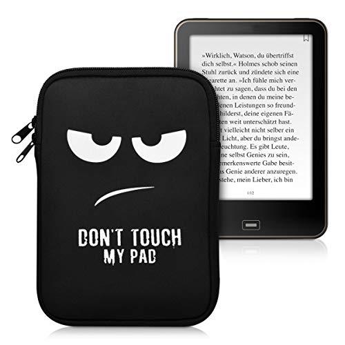 kwmobile Funda para e-Reader 10' - Bolsa de Neopreno con Cierre para e-Book - Estuche Don't Touch my Pad