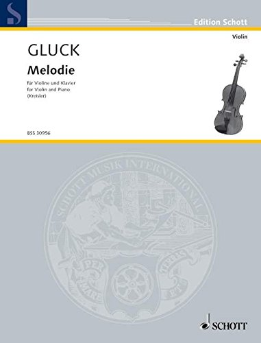 Melodie: Violine und Klavier. (Edition Schott)