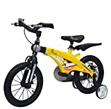 R for Rabbit Tiny Toes Jazz Smart Plug n Play Kids Bicycle for 4 to 7 Years Boys & Girls Size 16T inches with Magnessium Alloy Adjustible Structure & Disc Brakes | Yellow Black