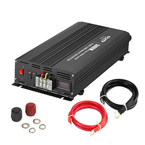 H-ENY Reiner Sinus-Wechselrichter, 3000W Power Inverter DC 12V / 24V / 48V AC 110V / 220V-Wandler Standby-Strom, Solar-Home-Hochleistungswandler Auto Power Inverter,24Vto220V