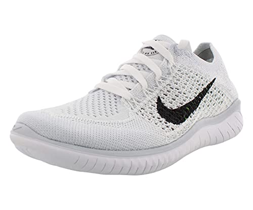 Nike Women's Free RN Flyknit 2018 (8) White/Grey