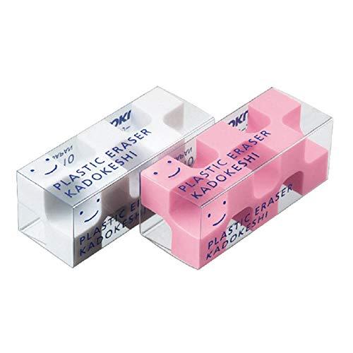 コクヨ 消しゴム「カドケシプチ」鉛筆用ピンク・ホワイト2色セット [ケシ-U750-2] 5個セット