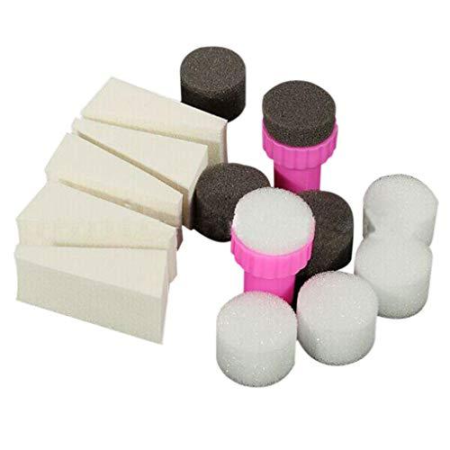 Guangcailun 15pcs / Set Nail Art Stamping Stamper éponge Shade Transfert Tampon Outil Bricolage Kit Accessoires Salon