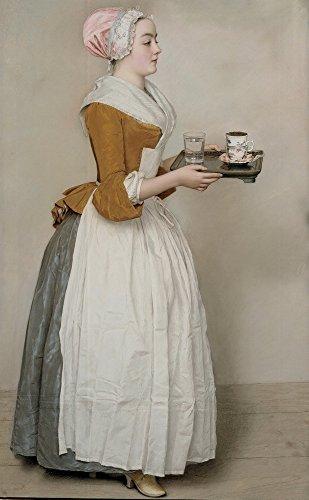 Berkin Arts Jean Etienne Liotard Giclee Kunstdruckpapier Kunstdruck Kunstwerke Gemälde Reproduktion Poster Drucken(Das Schokoladenmädchen)