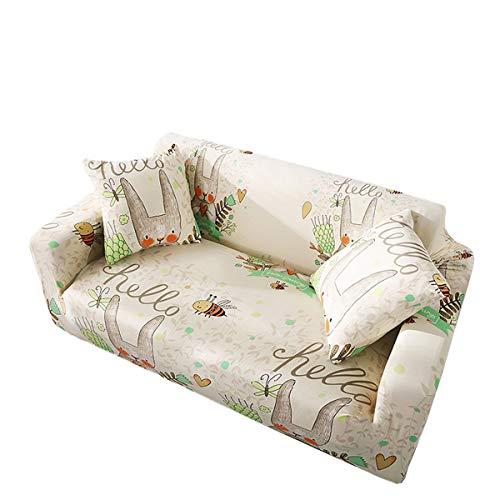 Yunchengyunxiangtong Stretch Couch Cover All-Inclusive-Universal-Anti-Rutsch-Staubdichtes-Sofa-Abdeckung Wohnzimmer Universal-Elastic Cover Cloth Cartoon Sofa (Size : Triple)