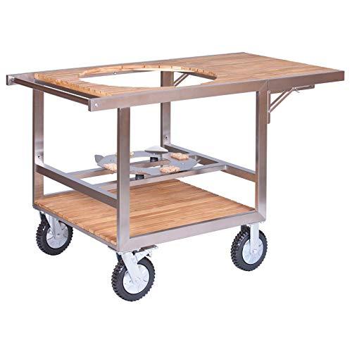 Monolith Buggy mit Seitentisch für Keramikgrill Le Chef