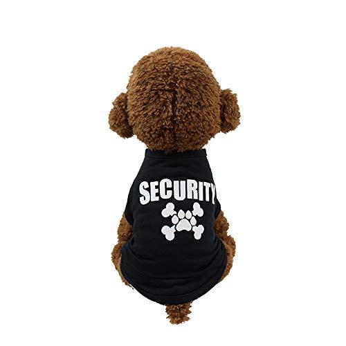 QZXCD kleding voor huisdieren, kleding voor honden, lente en zomer, smal, teddybeer, VIP, bedrukt voor huisdieren, verschillende maten, S, S