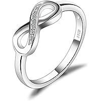 JewelryPalace Anillo infinito Amor Eterno de Circonita Cúbica Aniversario Promesa de Plata de ley 925 Tamaño 11