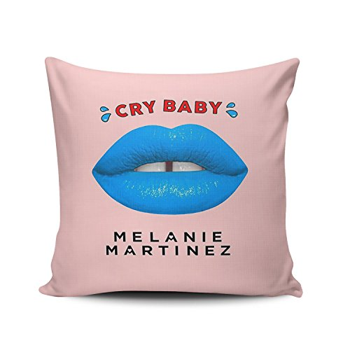 ZeDae Personalized Melanie Martinez Square Pillowcases Designer Pink Decorative Throw Pillow Covers Cases 16x16 Inches One Sided