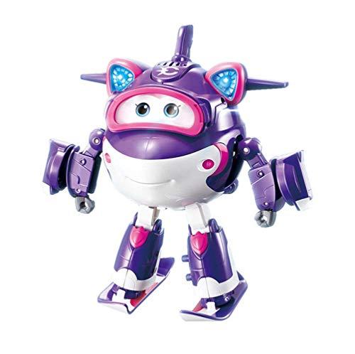 Suministros para bebés Super Wings Deformación Carrás Toys Transform-A-Bots Granforma Robot Robot Robot Robot Sound and Light Super Equipment Deluxe Transformando vehículos Niños Juguetes Peng
