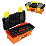 MagDurnus Plastic Tool Box,Portable Tray Toolbox Storage,Hardware Organizer for Home,Craftsman and Garage,Tough case with Handle and Locking (10inch)