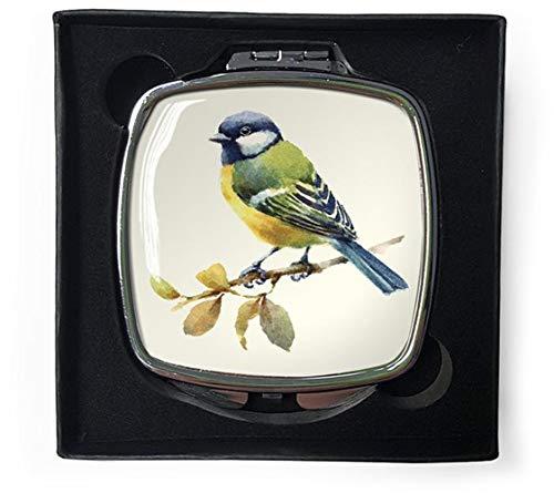 Tuin Vogels Blauw Tit Compact Spiegel in Geschenkdoos