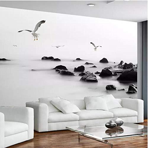 LTTGG Modekunst-Wohnzimmersofa Fernsehhintergrundwand-Innenwandgemälde des Steines der Fototapete...