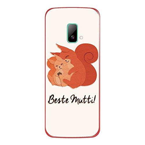 DISAGU SF-sdi-4195_1006 Design Folie für Wiko riff Rückseite - Motiv Beste Mutti - Eichhörnchen