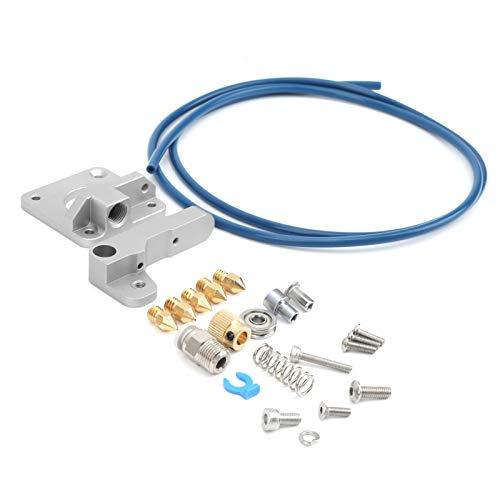 Juego de extrusora de metal Original gris + azul PTFE tubo + kit de actualización de boquilla Accesorios de impresora 3D para Ender-3 / Ender-3S / Ender-3 Pro/Ender-5