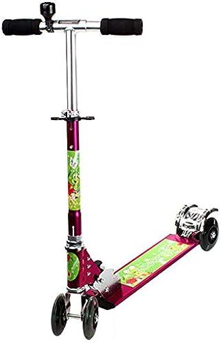 Kinderscooter mit Verstellbarem Lenker Kinderroller Roller Scooter Blinken für Kinder ab 3-14 Jahren bis 60kg Belastbar