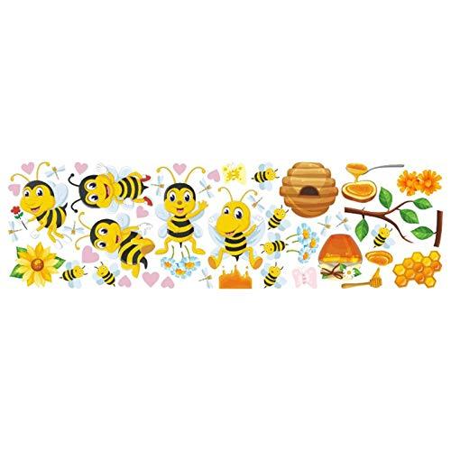 1 set di adesivi da parete, motivo ape fumetto per la casa dei bambini, decorazione per la casa