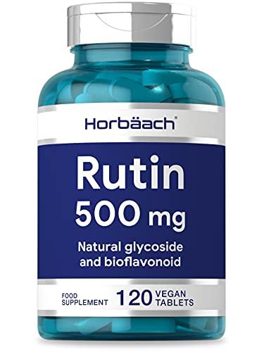Rutin 500mg | 120 Vegan Tablets | Natural Bioflavonoid Source | High Strength | Non-GMO, Gluten Free Supplement