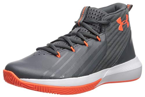 Under Armour Grade School Lockdown 3, Zapatos de Baloncesto para Niños, Gris (Pitch...