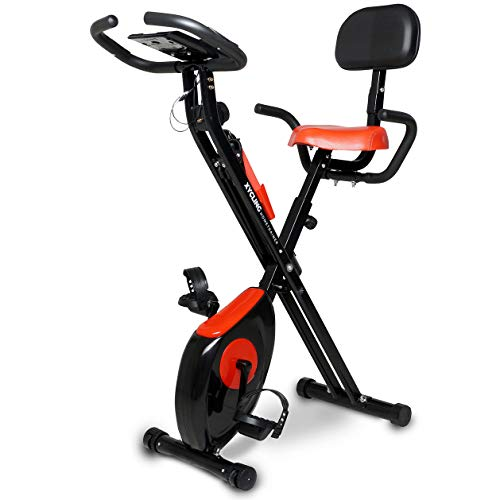 Miweba Sports Indoor Xycling X-Bike Fitnessbike - 3 Kg Schwungmasse - Pulsmessung - 8 Widerstandsstufen - App Funktion (Weiß Pink)
