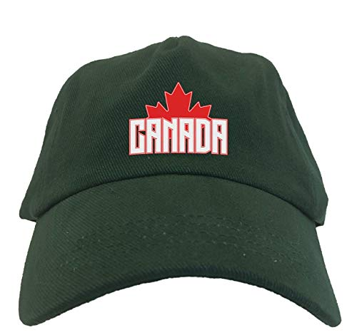 Canada with Maple Leaf - Canadian Dad Hat (Forest Green)
