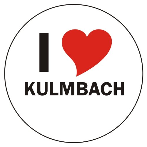 INDIGOS UG Aufkleber/Sticker/Autoaufkleber - I Love Kulmbach - JDM/Die Cut/OEM - Auto/Heckscheibe - aussenklebend, rund, Größe: 80mm