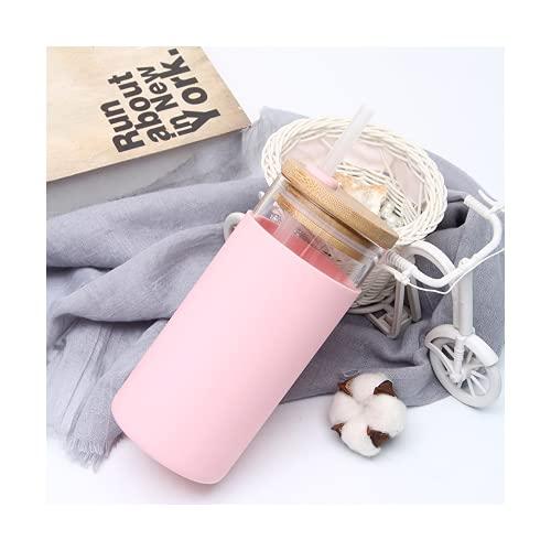 YISPIRIN - Taza de café de cristal reutilizable con pajita y tapa...