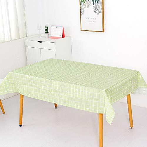 pridesong Tischdecke wasserdicht kohlensäurebeständige ölbeständige Kunststofftischdecke Gittertischdecke Kaffeetischdecke grün 137 * 180