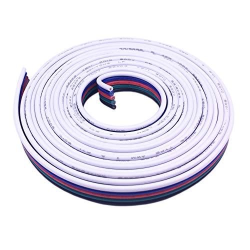 10m RGBW Verlängerungskabel 5 polig LED Streifen Verlängerung Verbindungskabel LED Strip Extension Kabel LED Stripe Verbinder Anschlusskabel für RGBW 5050 LED Band, für 5 polig Osram RGBW LED Streifen