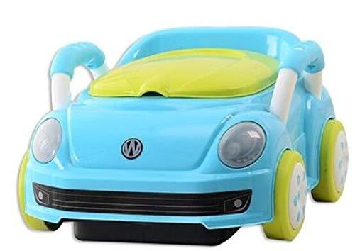 Zcm Vasino per Bambini Chair Bambini Potty Training Car Nuovo Fumetto Schienale Bambini Svegli Pot vasino for Neonati Bambini Orinatoio Toilet Seat (Color : Blue)