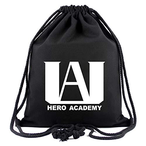 Barney My Hero Academia Rucksack mit Kordelzug, für Fitnessstudio, Reisen, Aufbewahrungstasche, bedruckt, Freizeit-Schultertasche (Stil 01)
