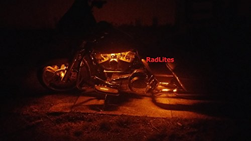 RadLites 6 Piece Orange Motorcycle 66 LED Light Kit, Brightest!