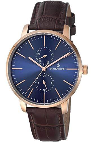 Radiant new Dress Code Herren Uhr analog Quarzwerk mit Leder Armband RA437702
