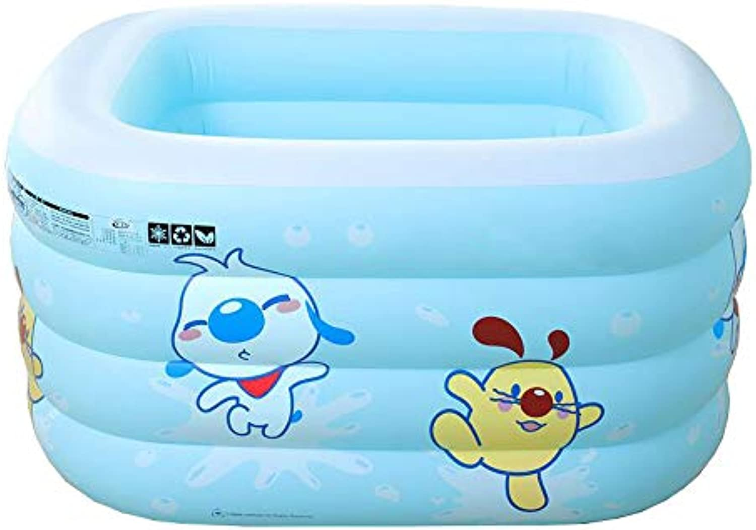 LEGOUGOU Baby Kinder Pool Multi-Level-aufblasbare Bad Garten Auenpool Eco-Friendly PVC Cartoon Malerei Schaumbad