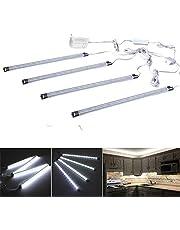 Cefrank 4 stks onder kast led lichtbalken, glas vitrineverlichting, vitrinelamp