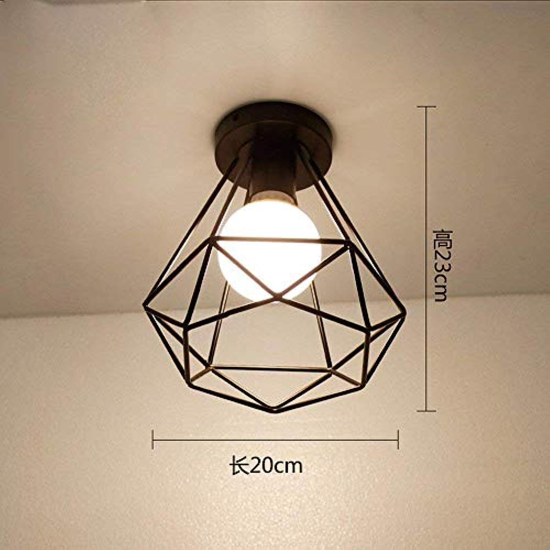 GUO Gzz Deng Home Auenbeleuchtung Deckenleuchte Moderne American Style Eisen Retro Industrial Beleuchtung Korridor Lampen Warmes Licht 20X23Cm