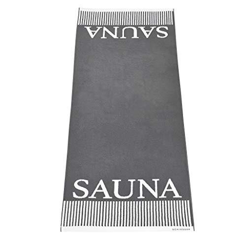 Schiesser Saunatuch Rom 75 x 200 cm, 100% Baumwolle, Farbe:anthrazit, Größe:75 cm x 200 cm