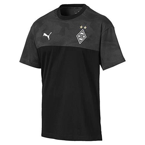 PUMA Herren BMG Casuals Tee T-Shirt, Black/Phantom Black, XXL
