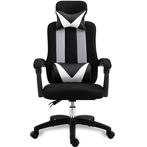LIUDINGDING Bureau Chaise Chaise informatique Ménage Reclining ergonomique Siège Chaise E-sport de levage Mesh Tissu personnel chaise pivotante (Color : Black)