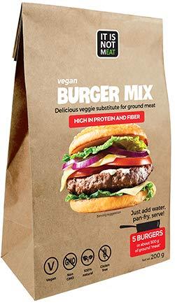 Mezcla de Hamburguesas Veganas Instantánea Perfecto para cocinar   Proteina de Soja   Vegano   100% Sin Gluten (Pack de 1)
