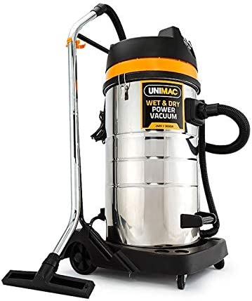 Unimac 100L 3000W Commercial Wet and Dry Vacuum with 4 Head Attachments