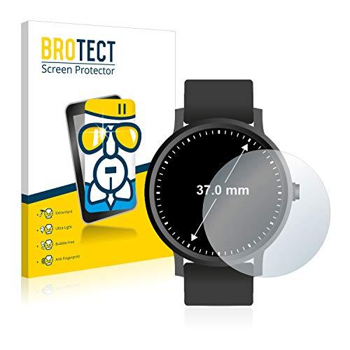 BROTECT Panzerglas Schutzfolie kompatibel mit Armbanduhren (Kreisr&, Durchmesser: 37 mm) - 9H Extrem Kratzfest, Anti-Fingerprint, Ultra-Transparent