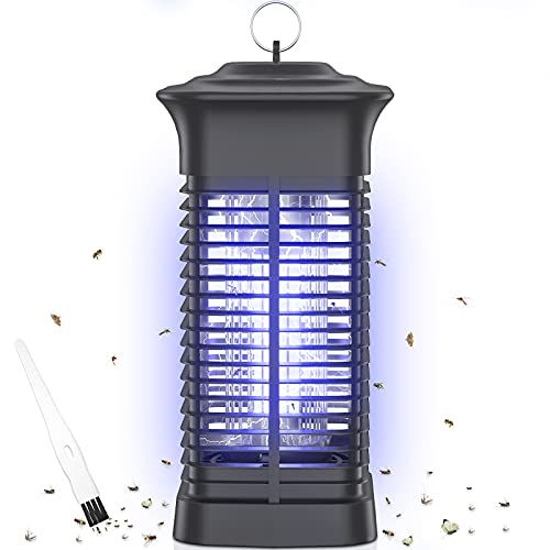 Bug Zapper Outdoor,4200V High Powered Electric Mosquito Zapper,Mosquito Killer Insect Fly Trap with 15W Mosquito Killer Bulb,Outdoor Rainproof Insect Killer for Home Backyard Patio Garden