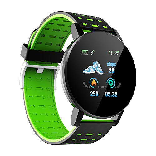 Entweg Neues Upgrade 1.3in Intelligente Uhren Herzfrequenz-Überwachungsuhr Sportuhren Armband wasserdichte Smartwatch