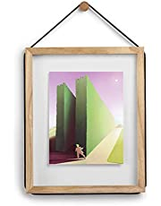 Umbra Corda Photo Frame – Floats 11x14 and 8x10 Photos and Displays Certificates and Diplomas, Natural Wood Document Frame/Floater Frame, Natural Finish