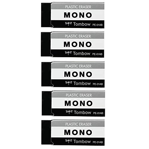 トンボ鉛筆 MONO 消しゴム モノPE01 ブラック JCC-561 5個入