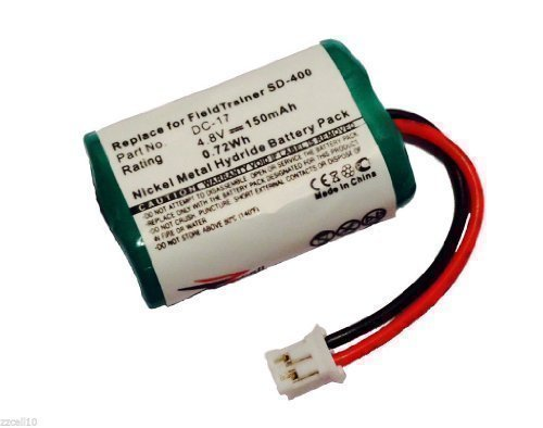ZZcell Battery for SportDog 650-058 / DC-17 Kinetic MH120AAAL4GC Dogtra FieldTrainer SD-400 Receiver SD-400S Dog Collar 150mAh