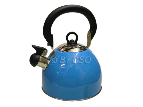 Prima 2.5l Edelstahl Pfeifender Wasserkocher in Blau 11122c
